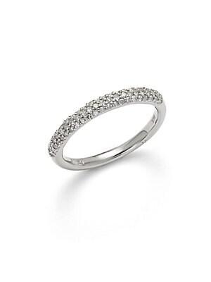 Diamond & 14K White Gold Pave Ring