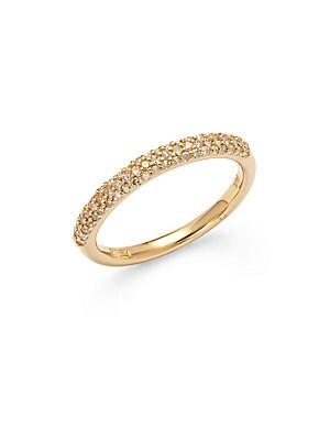 Diamond & 14K Yellow Gold Pave Ring
