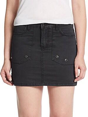 Jivron Denim Mini Skirt