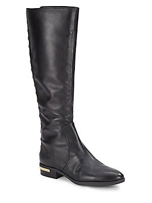 Studded Leather Tall Shaft Boots