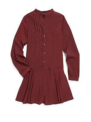 Girl's Georgette Pleated Dress