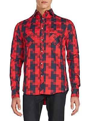 Carlisle Geometric-Print Sportshirt
