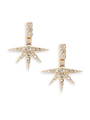 Crystal Star Ear Jacket Earrings