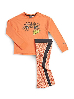 Girl's Long Sleeve Tee & Printed Pants Set