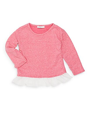 Little Girl's Heathered Long Sleeve T-Shirt