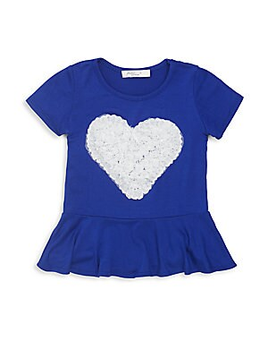 Little Girl's Ruffled Rose Heart Top