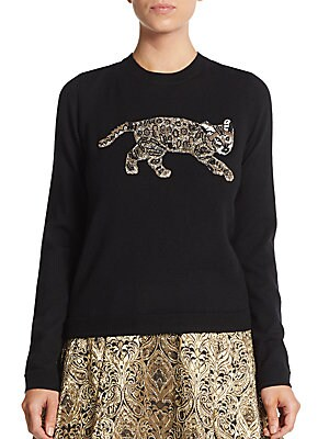 Beaded Bengal Tiger Pullover