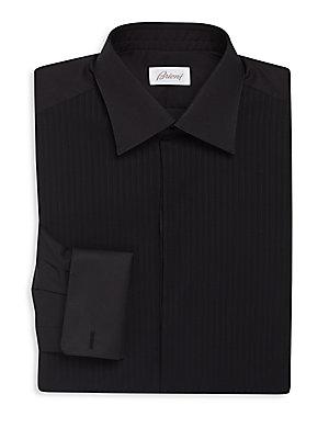 Regular-Fit Tonal Striped Dress Shirt