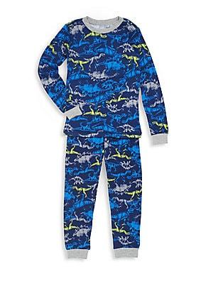 Boy's Dino-Print Pajama Set