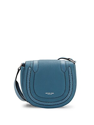Braid-Trim Leather Mini Crossbody