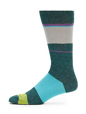 Cotton-Blend Striped Socks