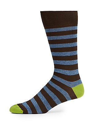 Mid Calf Striped Socks