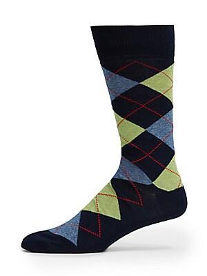 Cotton-Blend Mid Calf Socks