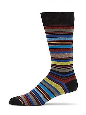 Mid Calf Cotton-Blend Socks