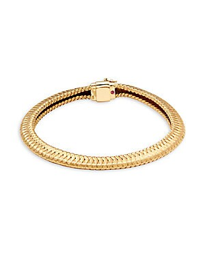 18K Yellow Gold Silk Weave Bracelet