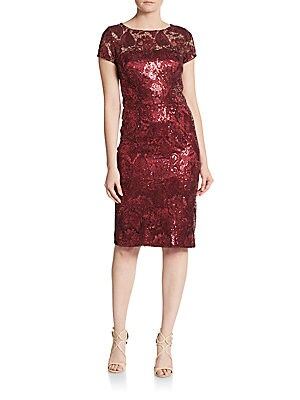 Sequined Tapestry Dress
