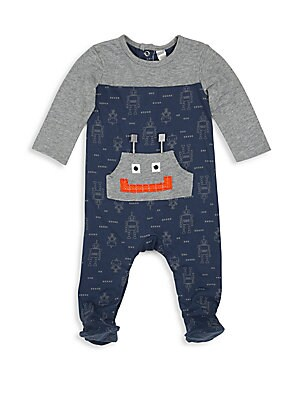 Baby's Long Sleeve Cotton Footie