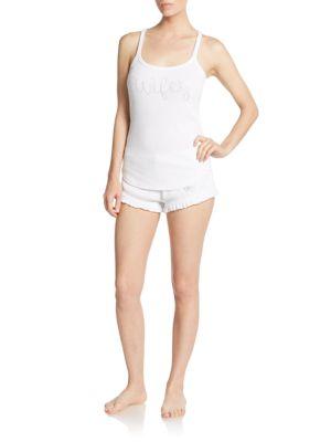 Lace Tee  Shorts Set Betsey Johnson