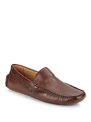 Dot Patterned Leather Loafers