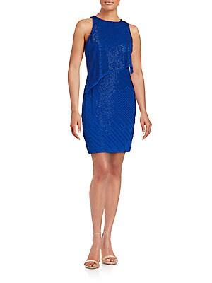 Crewneck Sleeveless Popover Dress