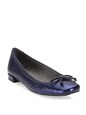 Laces Leather Ballet Flats