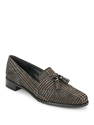 Bloke Plaid Brogue Suede Loafers