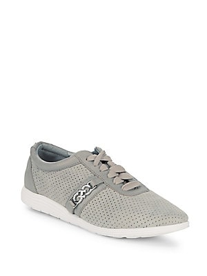 Bria Perforated Leather Sneakers
