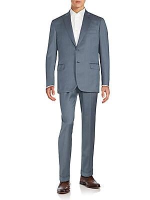 Regular-Fit Wool & Silk Suit