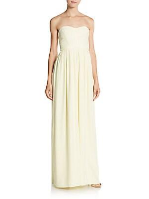 Bayou Silk Strapless Gown
