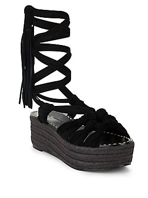 Cosie Fringed Leather Espadrilles