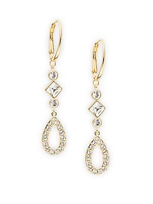 SS Te Arachide Crystal Drop Earrings