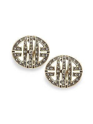 Crystal Pave Stud Earrings