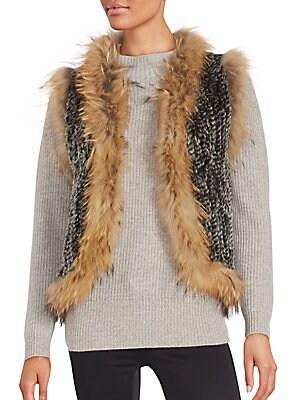 Rabbit & Coyote Fur Sleeveless Vest