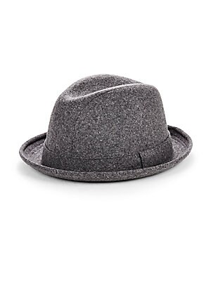 Solid Wool Blend Fedora