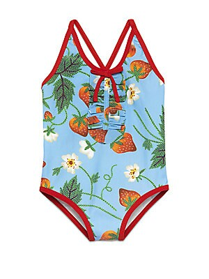Baby's One-Piece Strawberry-Print Swimsuit