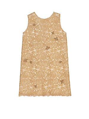 gucci female 220183 little girls girls bee lace dress
