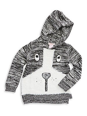 Toddler's & Little Girl's Dog Hoodie Sweater