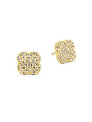 14K Vermeil Plated Post Earrings