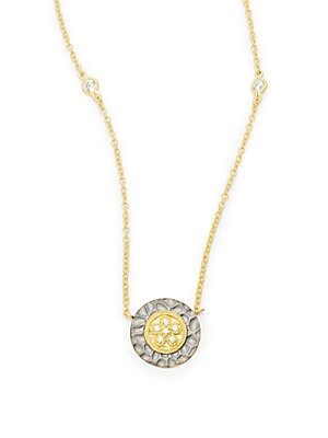 14K Gold Plated and Rhodium Necklace