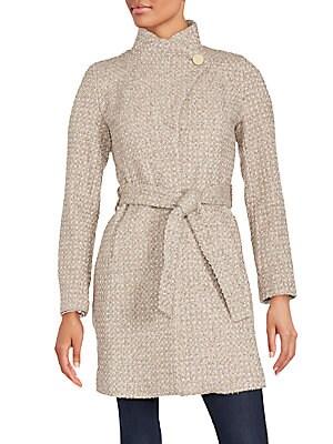 Isabelle Asymmetrical Wool-Blend Coat