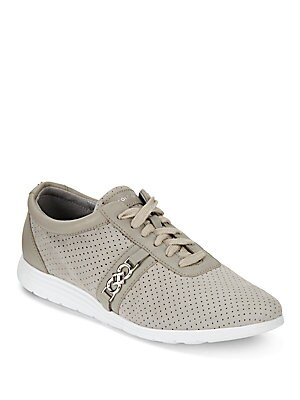 Bria Round Toe Leather Sneakers
