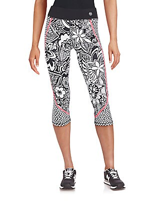 Floral Printed Knee-Length Leggings