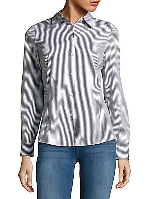 Casual Striped Cotton Shirt