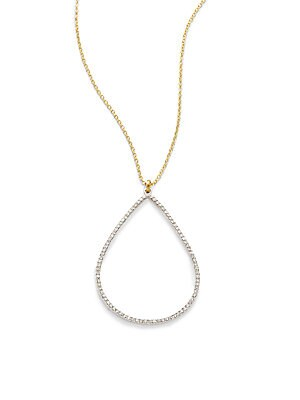 Click here for 24K Yellow & White Gold Teardrop Pendant Necklace prices