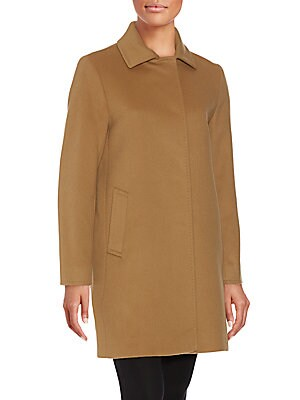 A-Line Wool Blend Coat