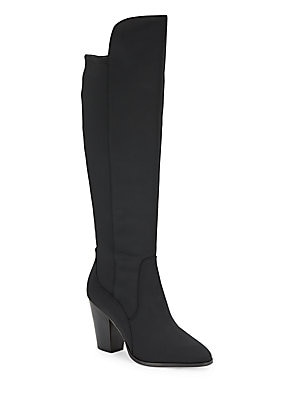 Almond Toe Knee High Boots