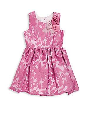Toddler's & Little Girl's Embroidered Floral Dress