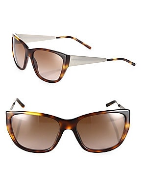 56MM Cat's Eye Tortoise Sunglasses