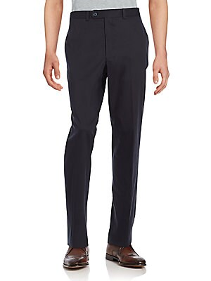 Solid Cotton Trousers