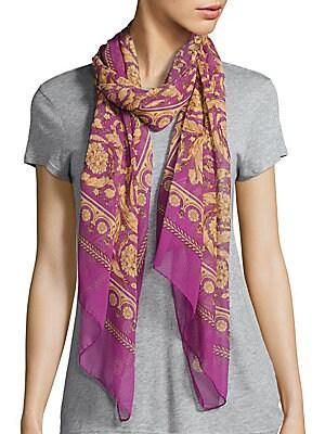 Stola Printed Silk Scarf